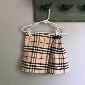Burberry wrap skirt